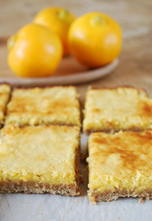 Carrés au citron bergamote et thé Earl Grey